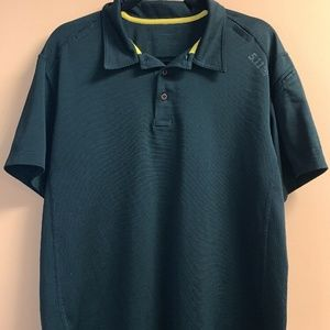5.11 Tactical Men's Black Polo Shirt Size Large